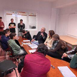 Hoy con D. Amilcar Martín Medina. Presentación de su libro   «Recuerdos de un Árbol»