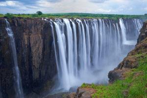 Botswana, Africa, Zimbabwe, Victoria Falls, waterfalls