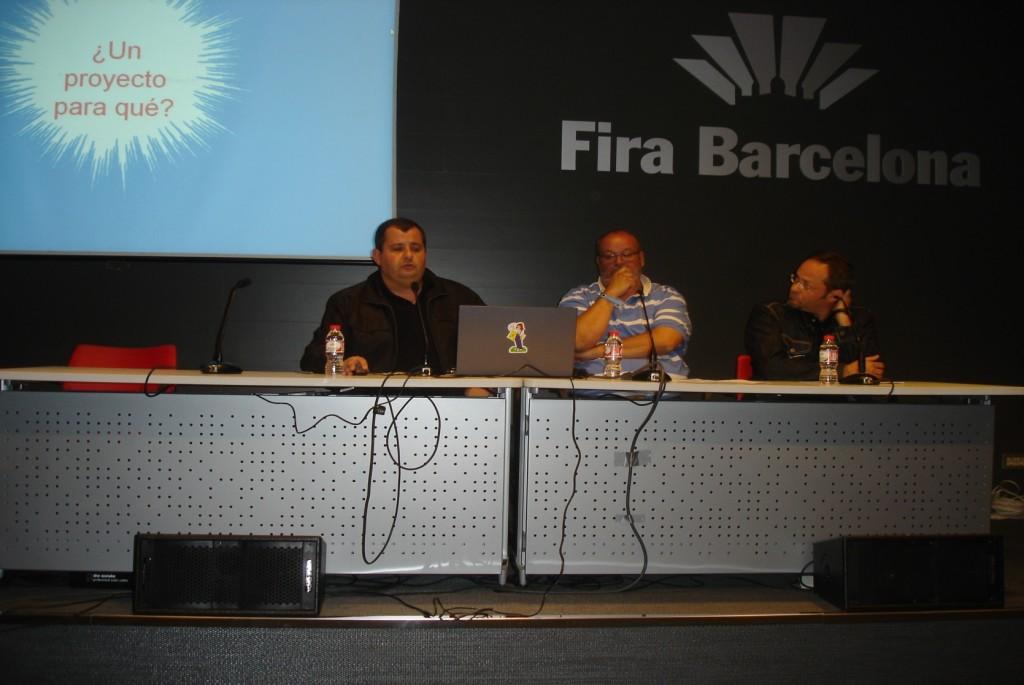 Presentación de Tebeos con Clase en el 31 Saló del Còmic de Barcelona, abril de 2013.