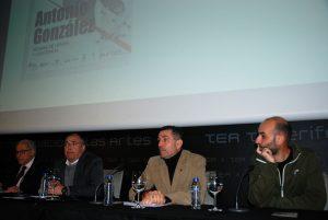 Clavijo, Almeida, Gutiérrez y Baute presentan el documental.