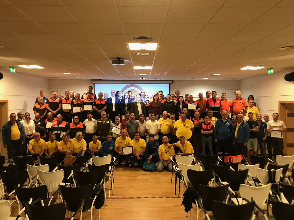 Celebración de la I Jornada del Voluntariado de Protección Civil .