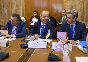 El consejero Pedro Ortega en la Conferencia Sectorial de Energía.