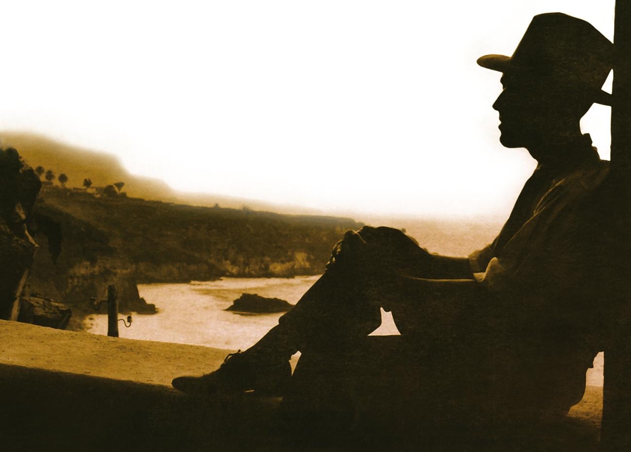 Agustín Espinosa en la costa norte de Tenerife.