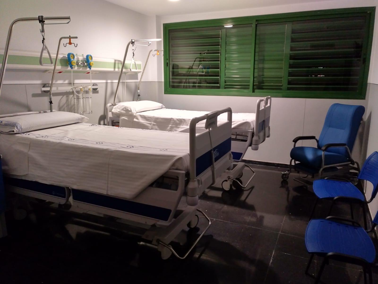 Habitación de la nueva planta de hospitalización Molina Orosa