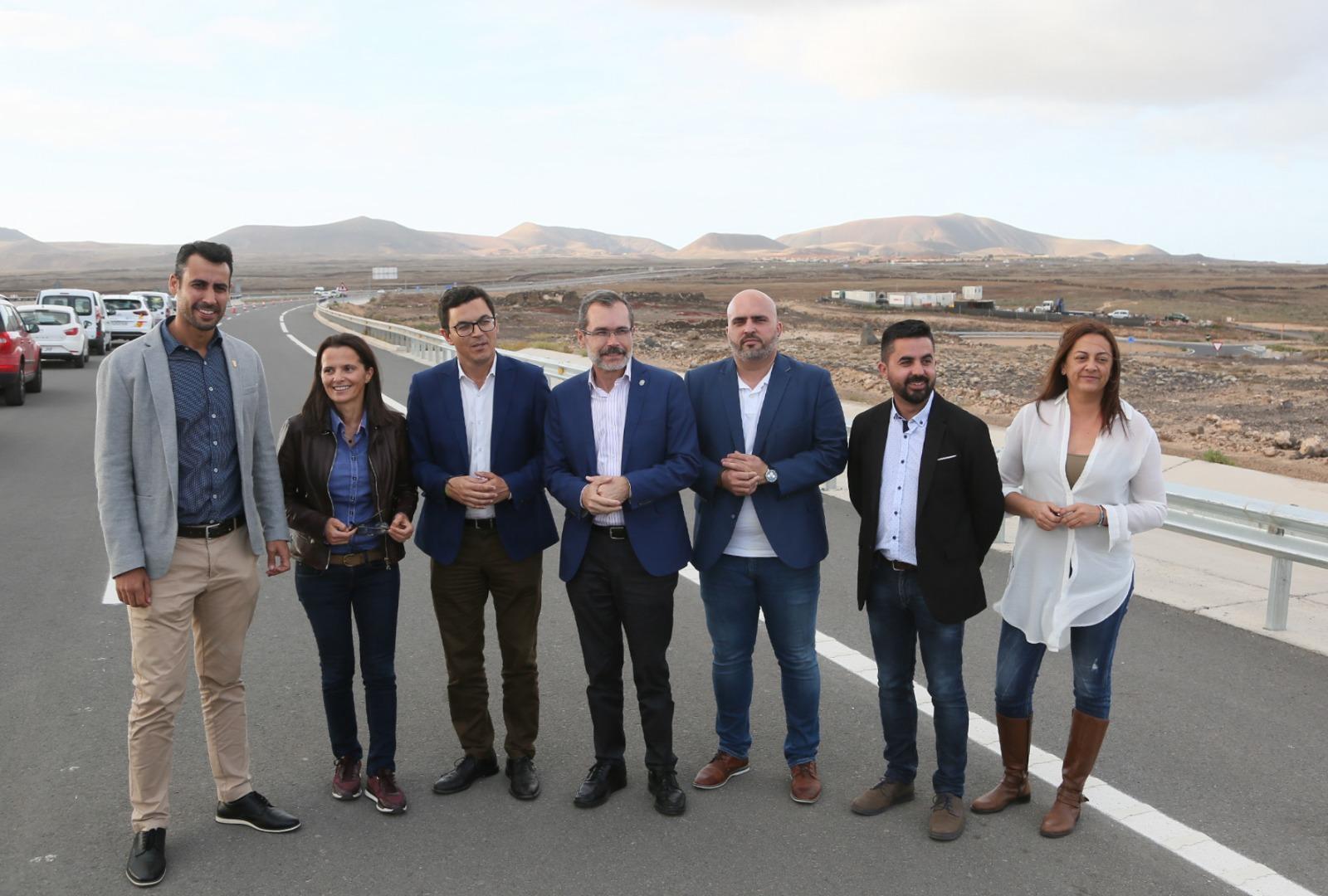 Puesta en servicio carretera Caldereta-Corralejo