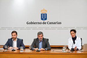 Fernando Clavijo en la rueda de prensa sobre los beneficios obtenidos de los rodajes en 2018.