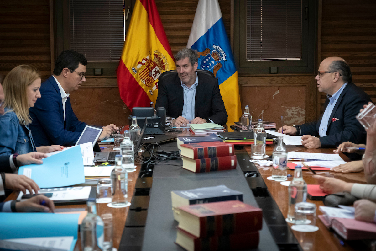 Fernando Clavijo presidió el Consejo de Gobierno, reunido hoy en Gran Canaria.