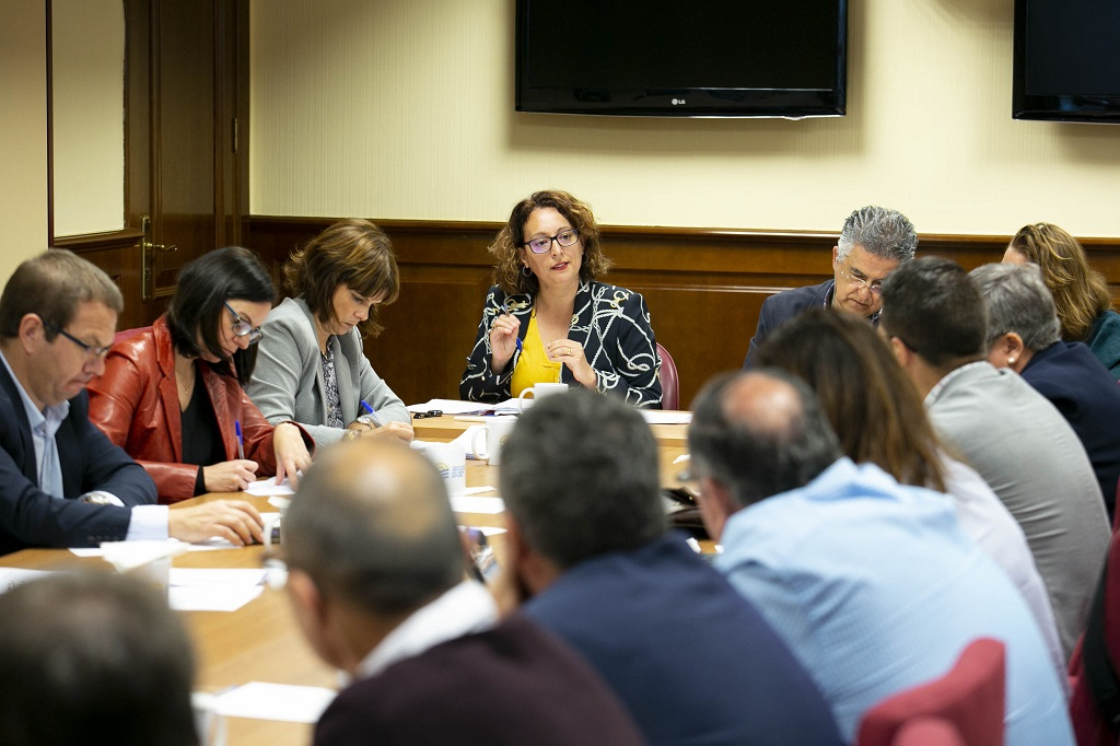 Ana Batista durante la reunión de la directiva de la ACPMN