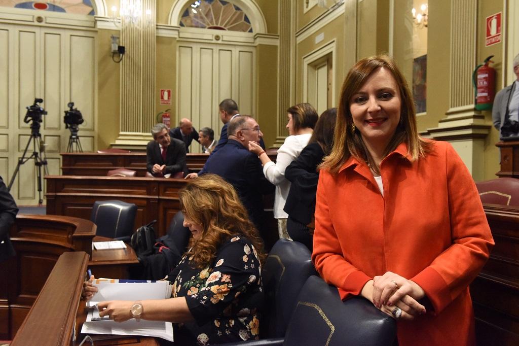 Nieves Lady Barreto en el Parlamento de Canarias