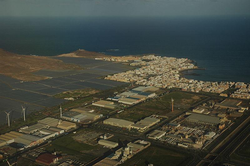Polígono industrial de Arinaga, en Gran Canaria.