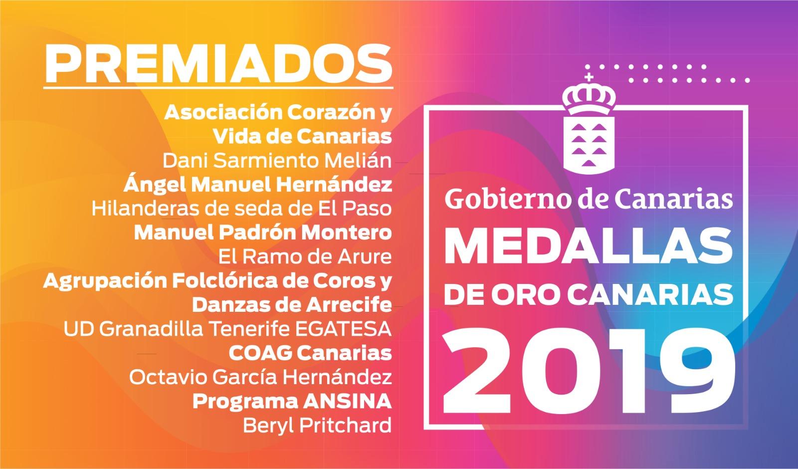 Medallas de Oro de Canarias 2019