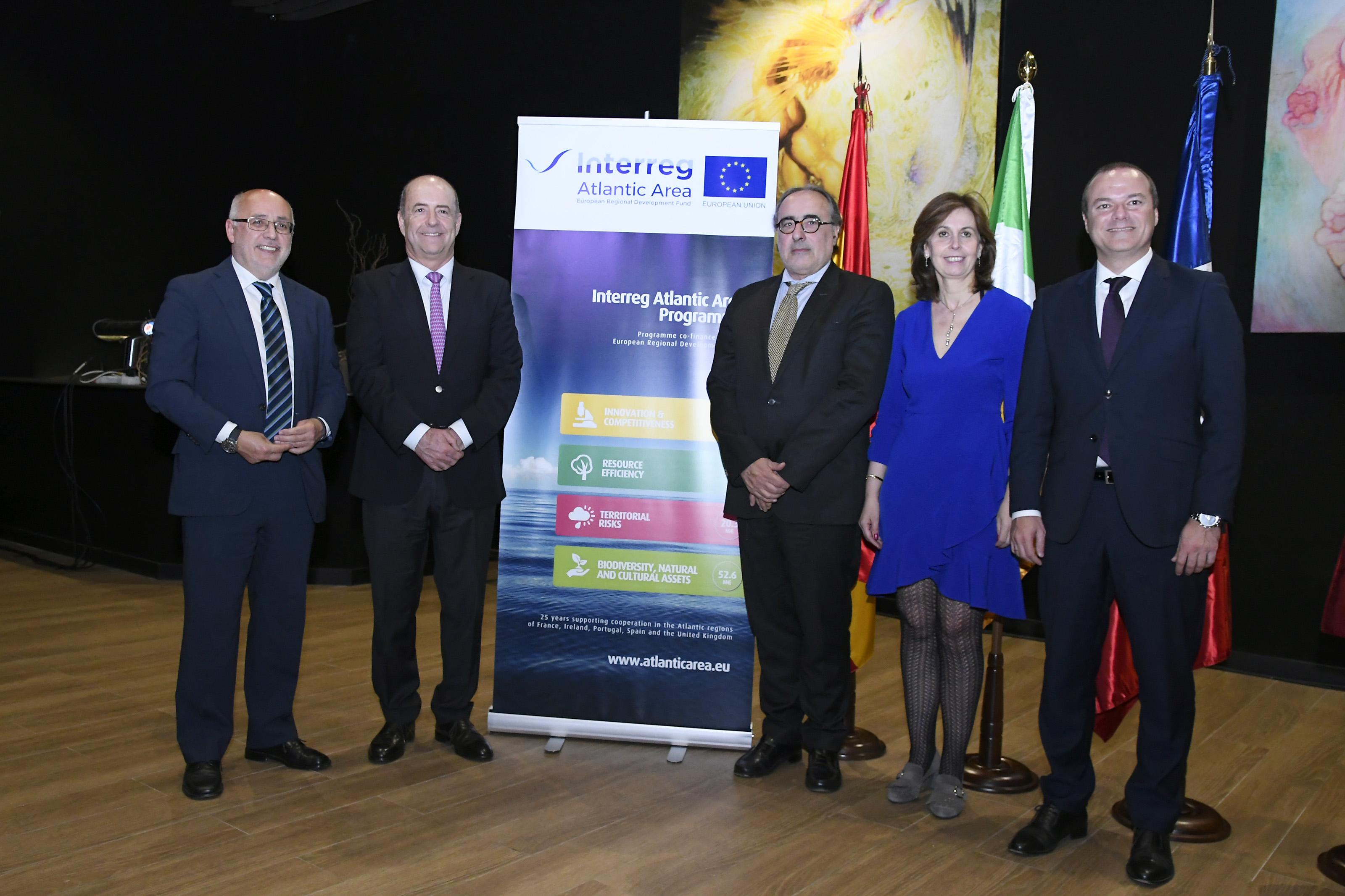 Acto de firma de los proyectos que participarán en la segunda convocatoria del programa Interreg Espacio Atlántico 2014-2020.