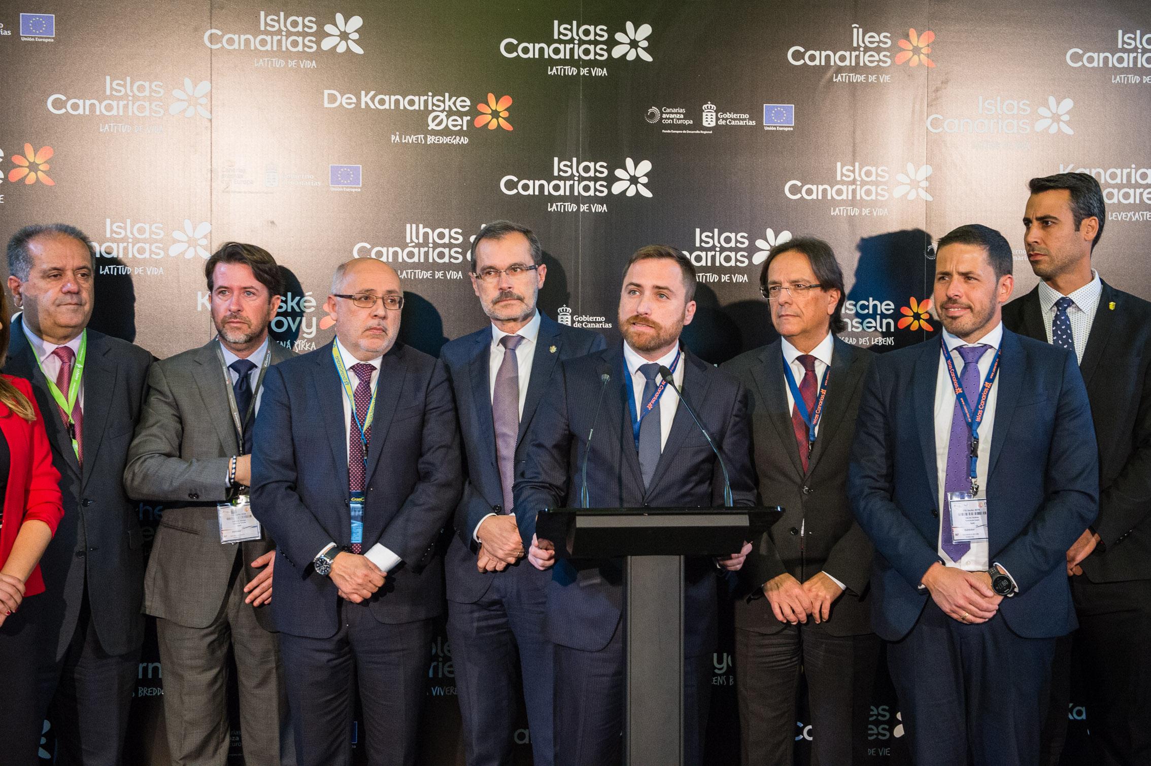 Inauguración del Pabellón de Canarias en la ITB 2019