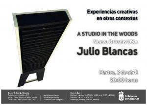 Flyer presentación Julio Blancas en La Regenta