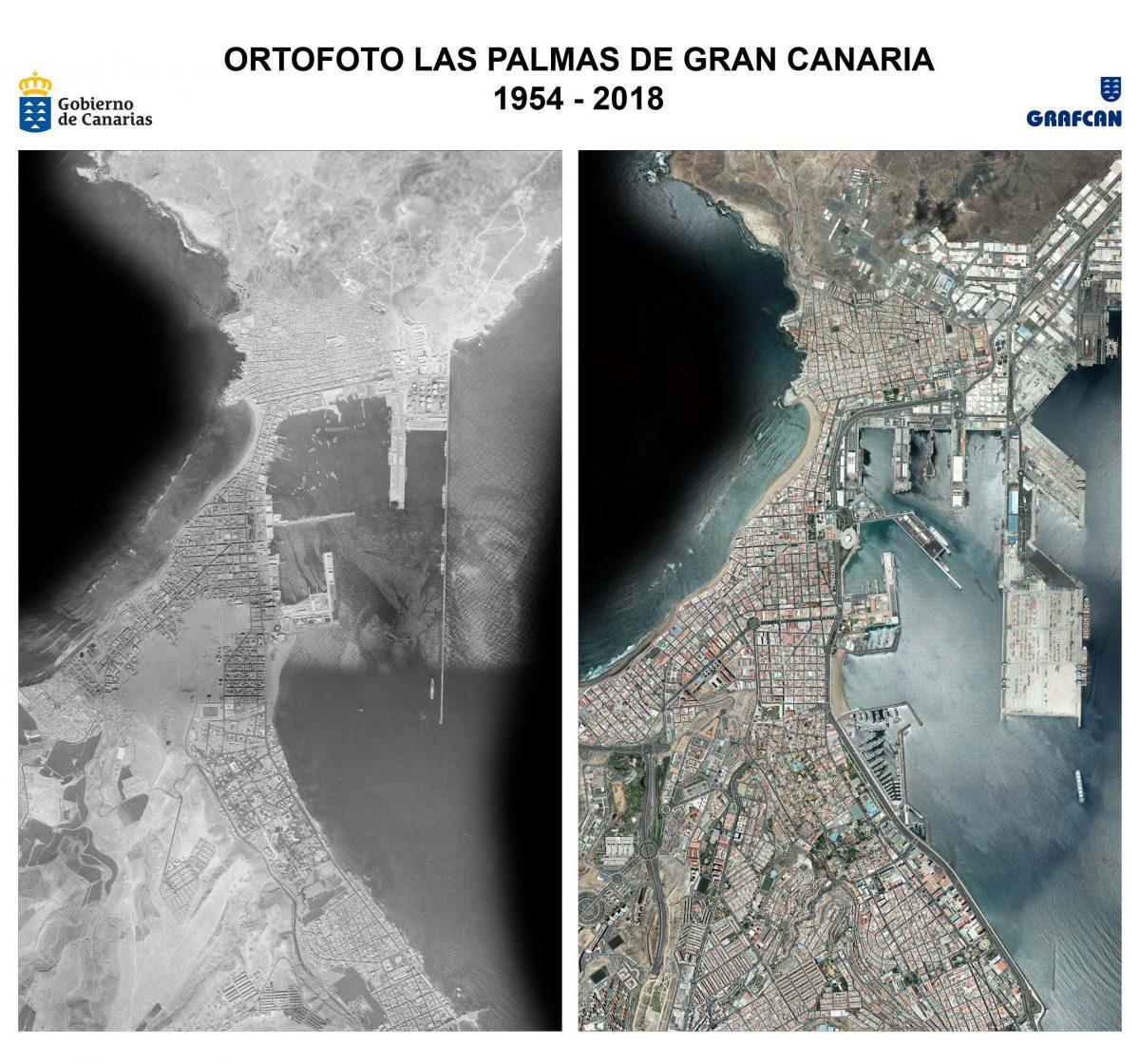 Ortofotos Las Palmas de Gran Canaria1954-2018