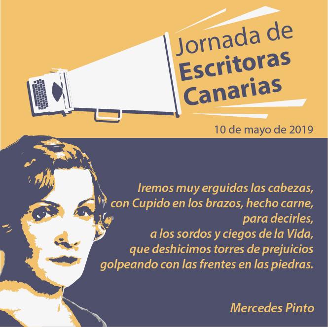 Cartelería del evento, con Mercedes Pinto