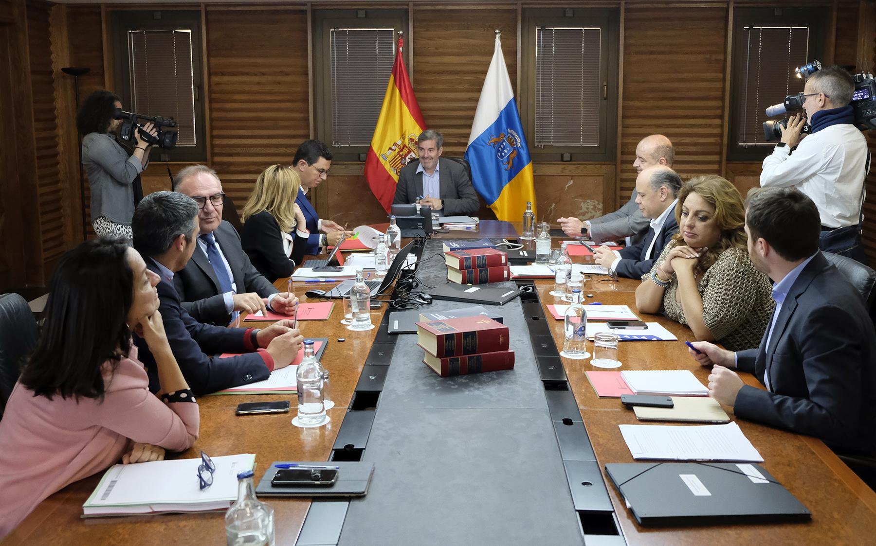 Fernando Clavijo preside el Consejo de Gobierno