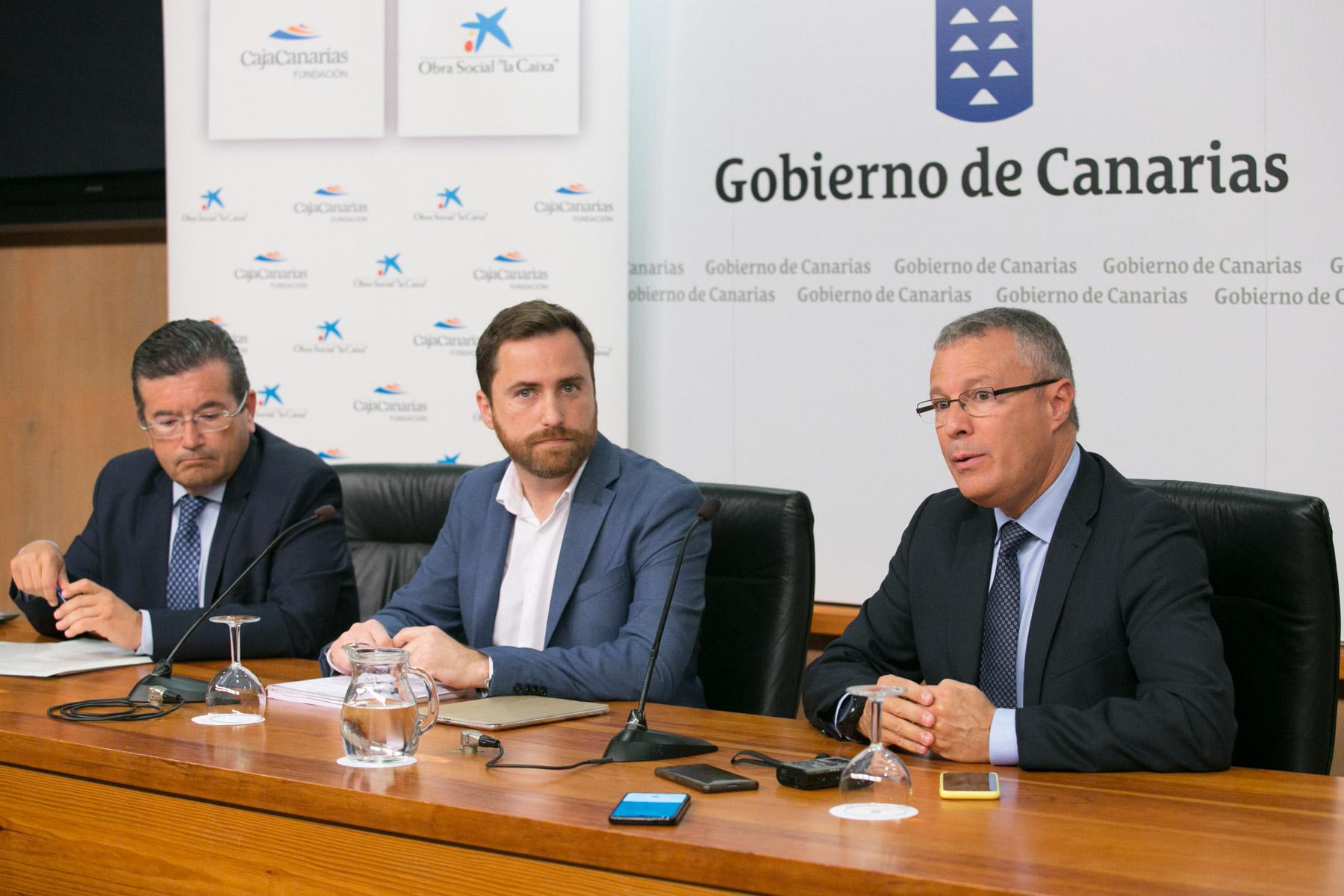 Juan Ramón Fuertes, Isaac Castellano y Alfredo Luaces