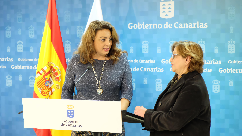 Cristina Valido y Reyes Henríquez