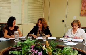 Cristina Valido con las directoras generales de Dependencia y Discapacidad, y Políticas Sociales