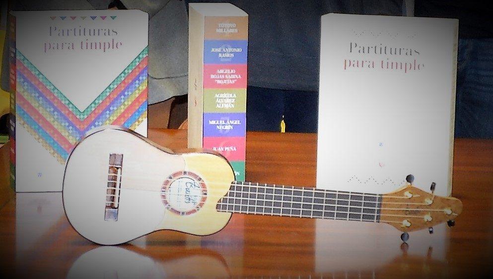 Timple artesano y partituras