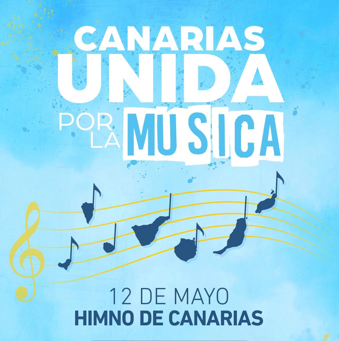 Pasacalle y conciertos de diferentes bandas de música para interprentar el Himno de Canarias