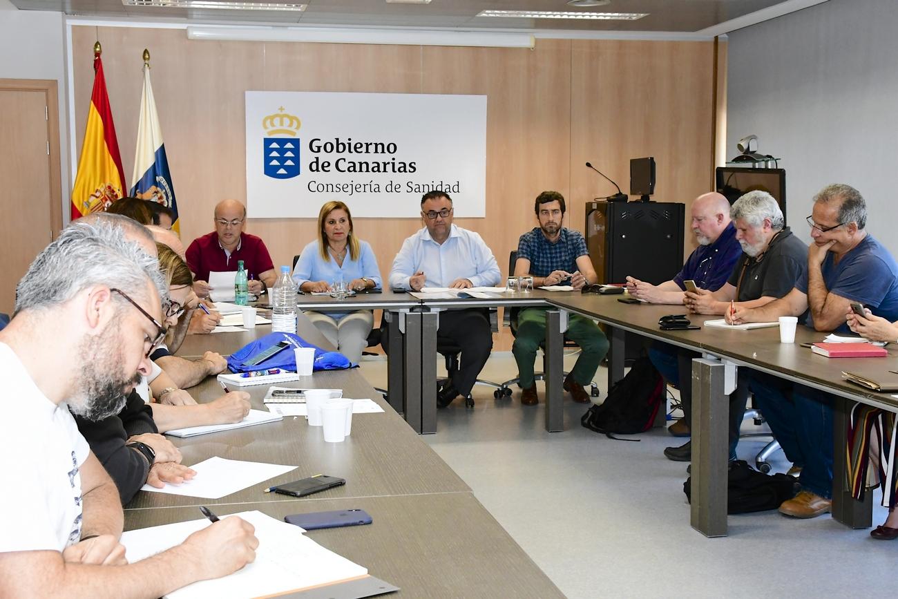 Conrado Domínguez durante la Mesa Sectorial