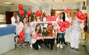 Lanzamiento de besos en el Hospital de La Candelaria