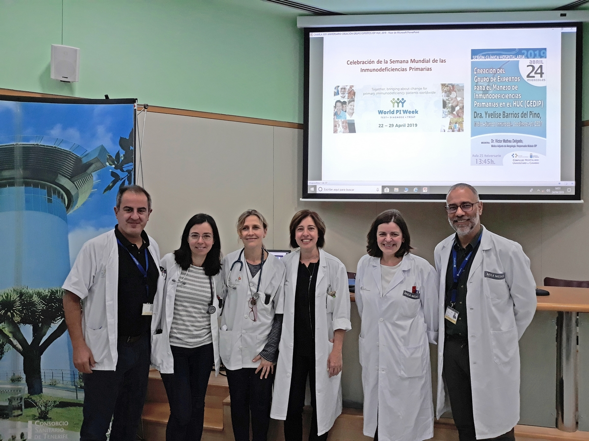 Profesionales Grupo Inmunodeficiencias Primarias HUC