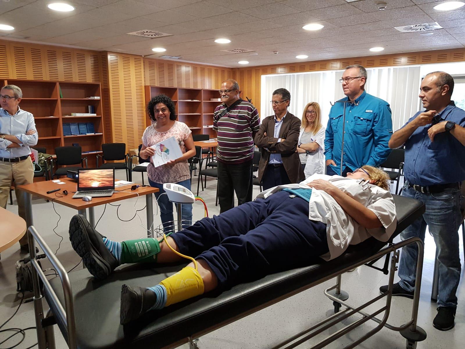 Sesión formativa en el Hospital.