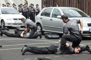 Práctica de detención policial