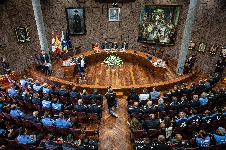 Acto del Día de la Policía Canaria, celebrado en La Gomera