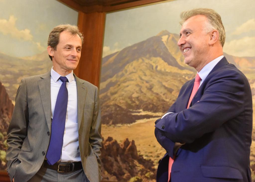 Ángel Víctor Torres y Pedro Duque