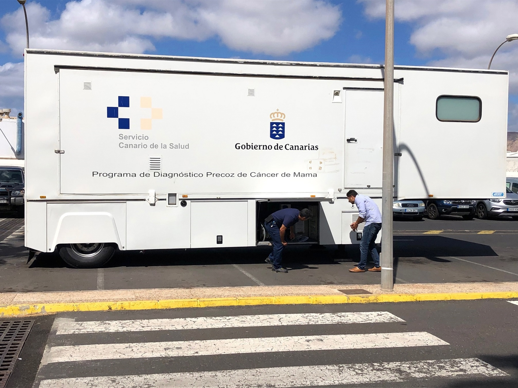 Unidad móvil de mamografía en Lanzarote.