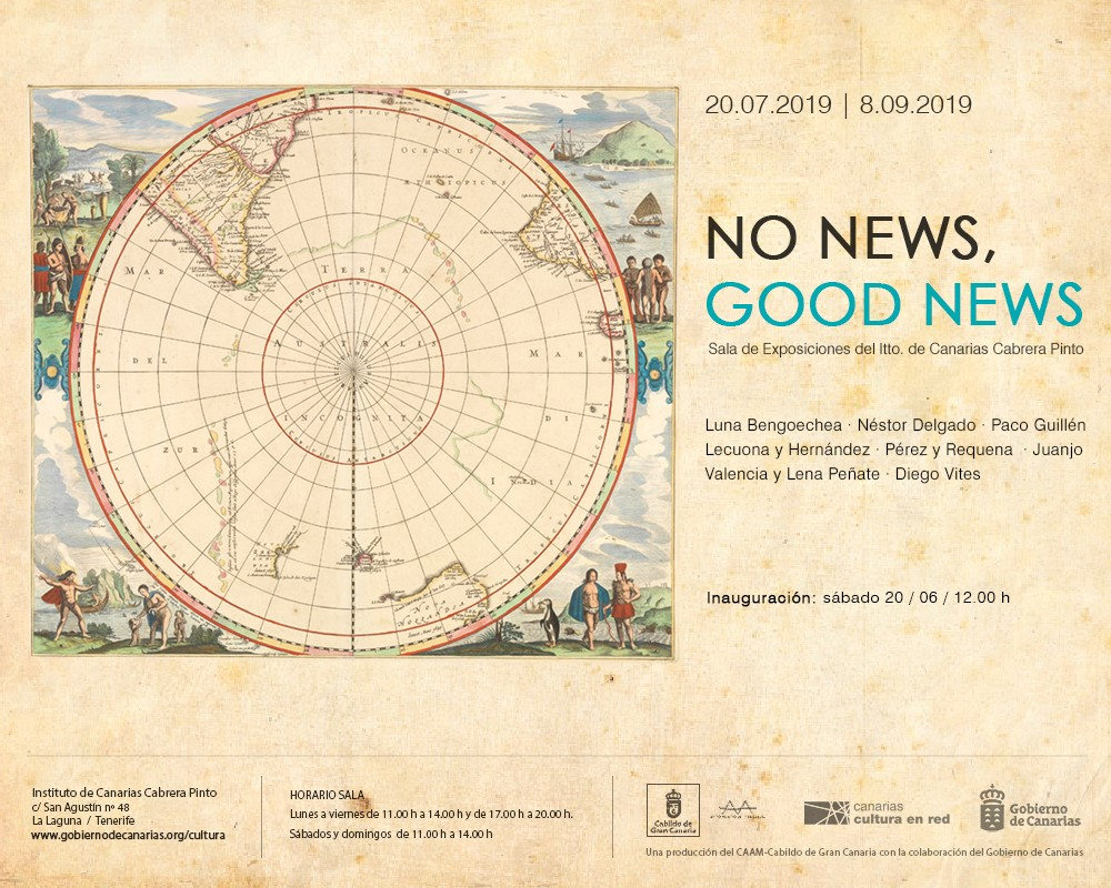 Invitación a la exposición No News, Good News