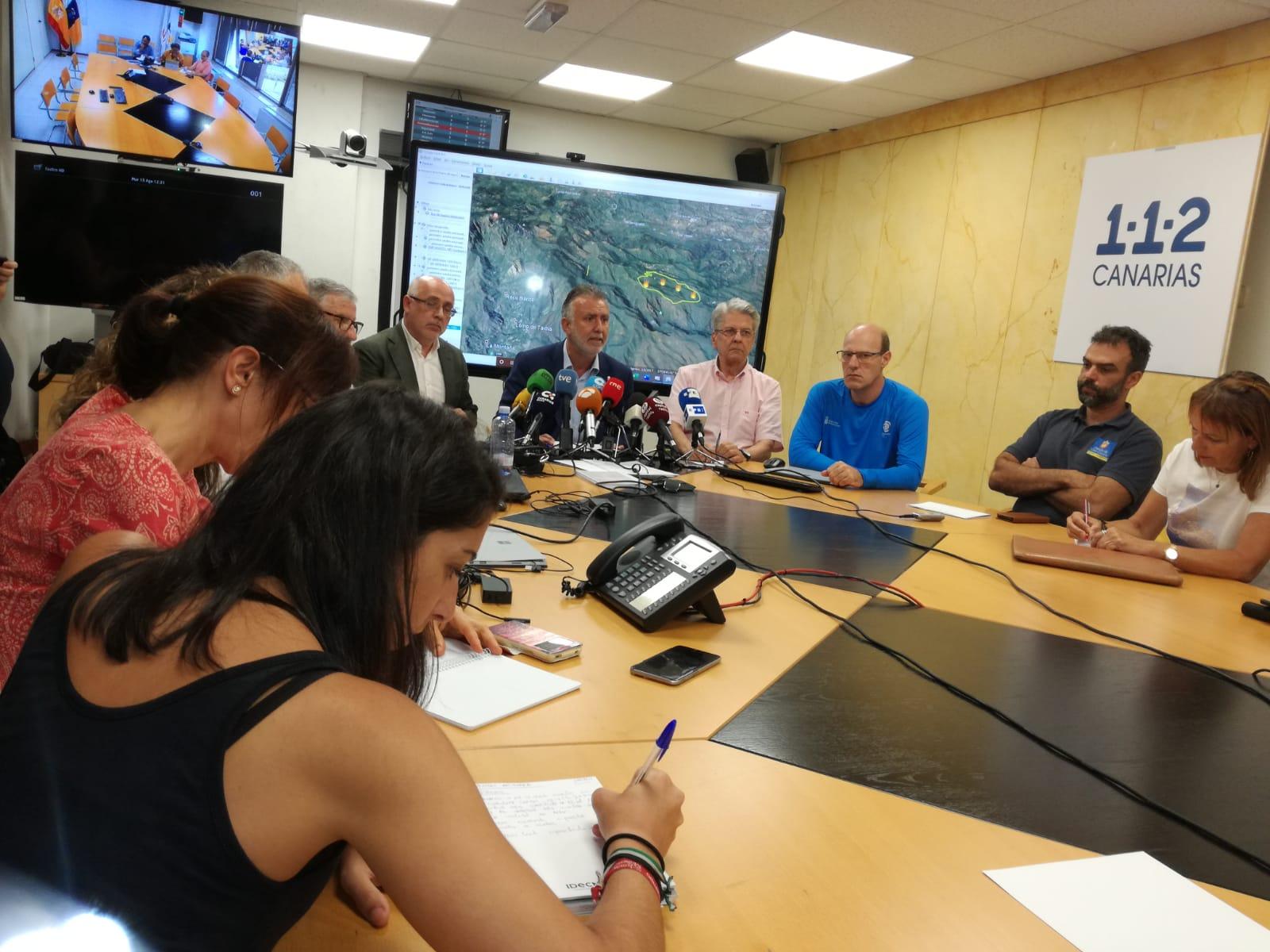 Rueda de Prensa incendio Gran Canaria 12:00 horas