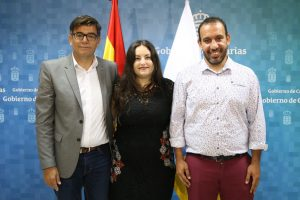 Directores generales de Diversidad, Julio Concepción; de Juventud, Laura Fuentes, y de Derechos Sociales, Jonás González
