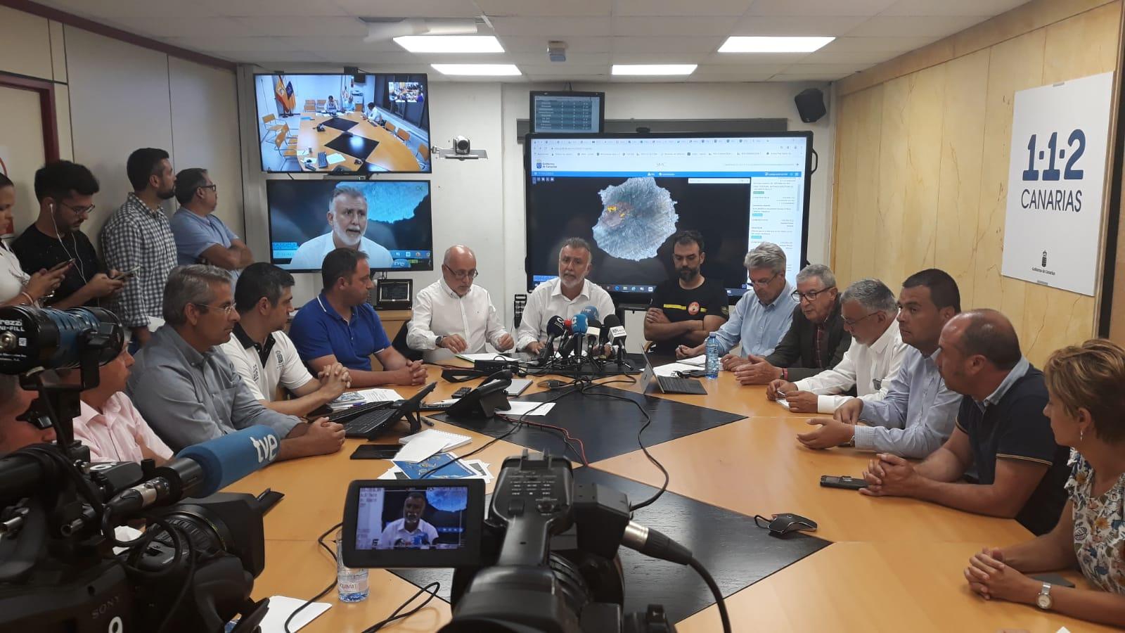 El presidente de Canarias anuncia que el incendio de Gran Canaria está estabilizado