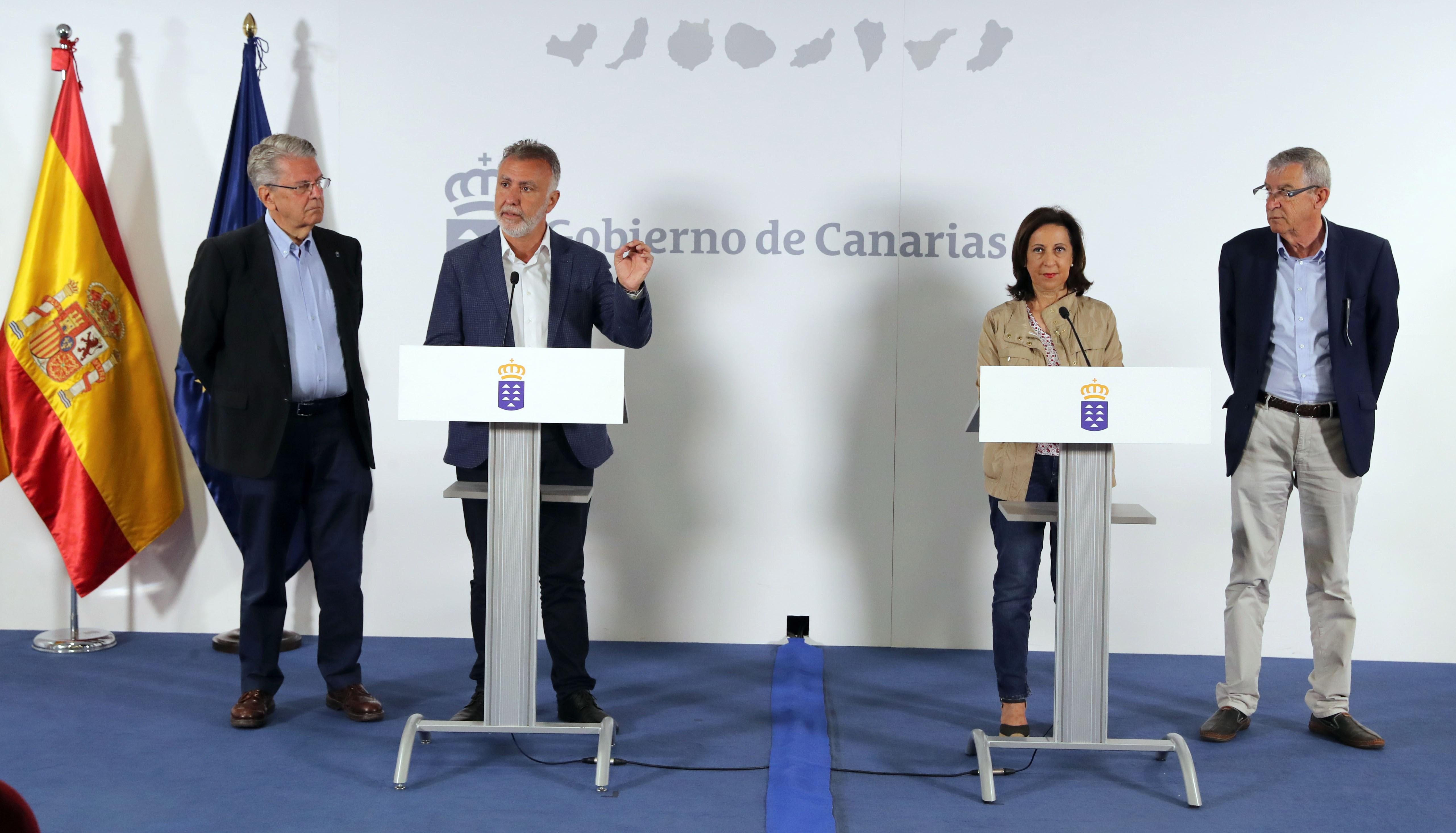 El presidente de Canarias avanza que esta tarde se prevé declarar como estabilizado el incendio de Gran Canaria