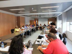 Momento de la reunión de la Mesa Sectorial.