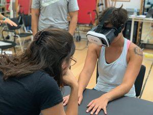 Momento del taller de ejercicio terapéutico en el HUC.