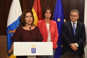 Teresa Cruz durante su intervención en la toma de posesión de los cargos del SCS