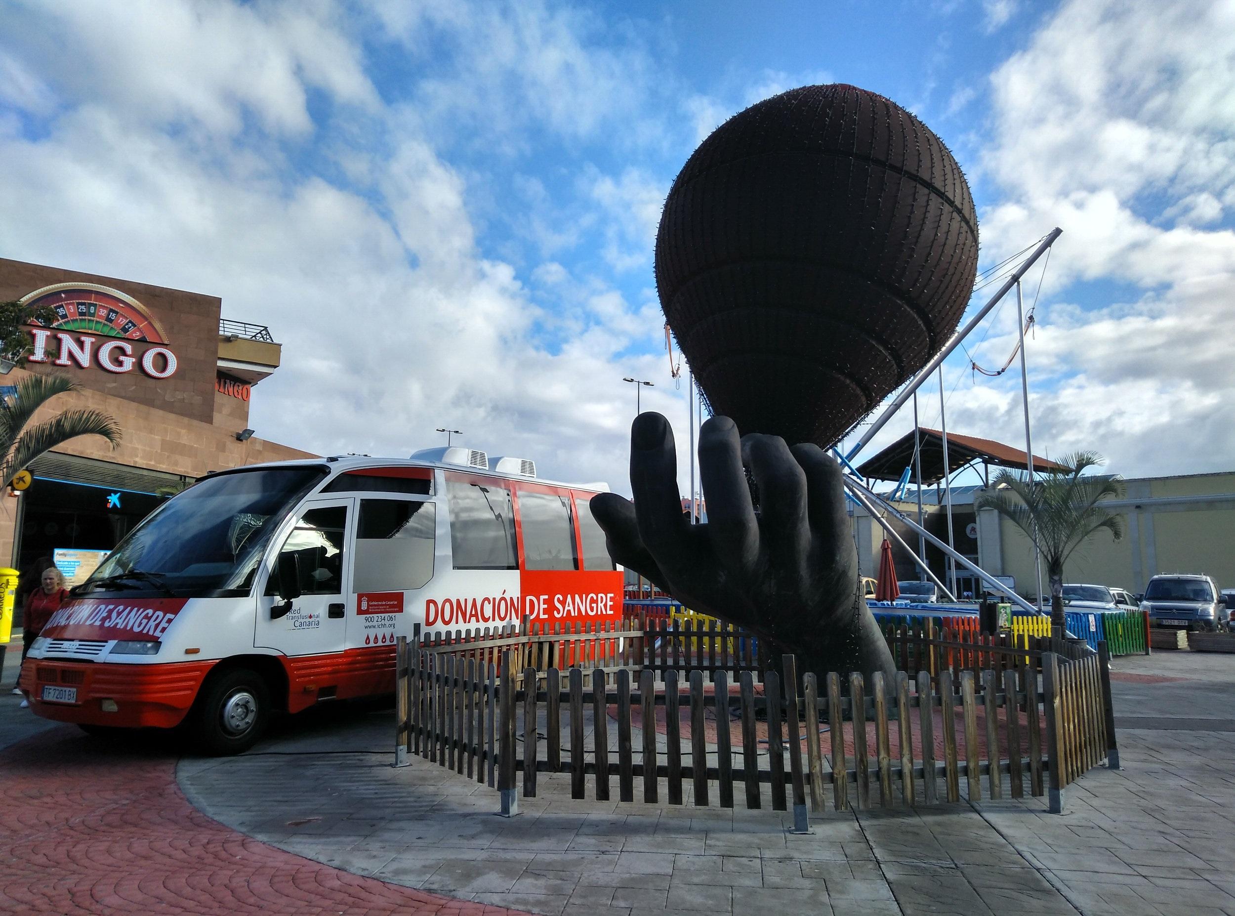 El ICHH continúa promocionando la donación de sangre en la zona norte de Tenerife