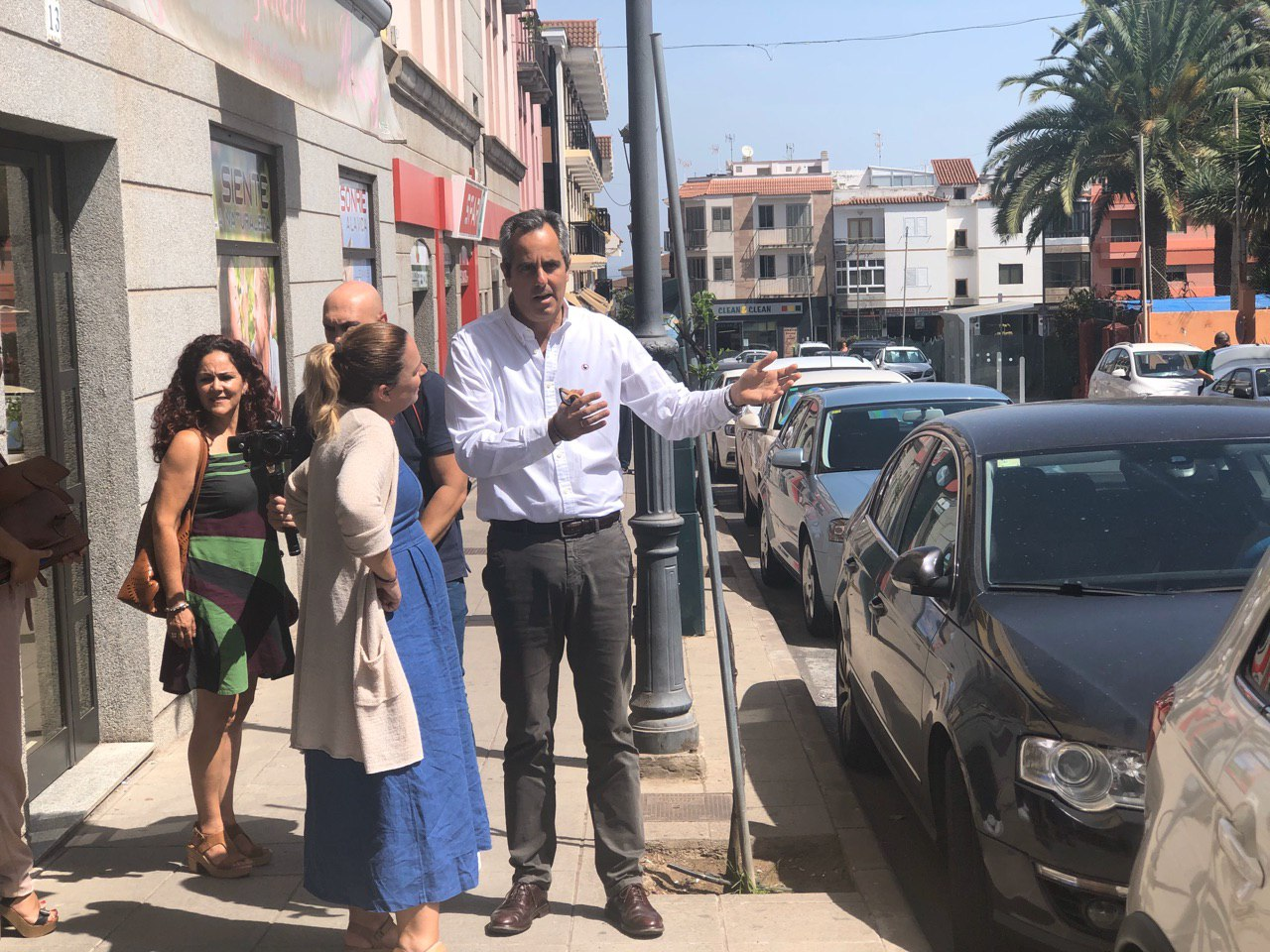 Noemí Santana visita Santa Brígida