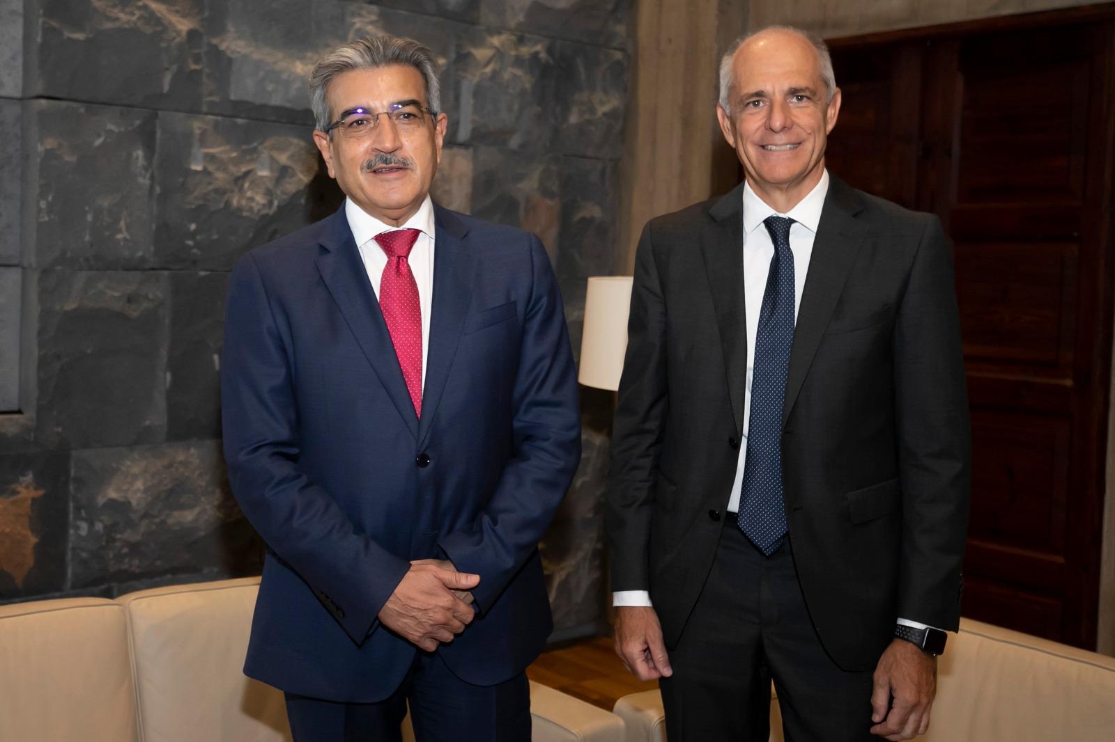 Román Rodríguez se reúne con el presidente de la Cámara de Comercio de Santa Cruz de Tenerife
