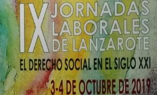 Imagen del programa de las IX Jornadas Laborales Lanzarote