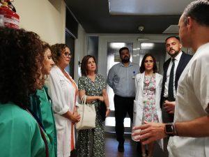Consejera de Sanidad en Hospital La Palma