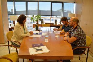 Reunión con el alcalde de Buenavista del Norte