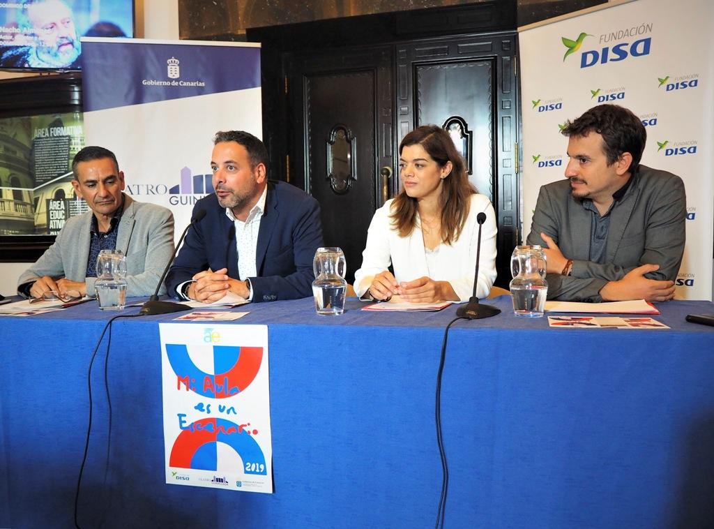 De Izq a dcha: Gregorio Cabrera, Rubén Pérez, Sara Mateos y Daniel Tapia