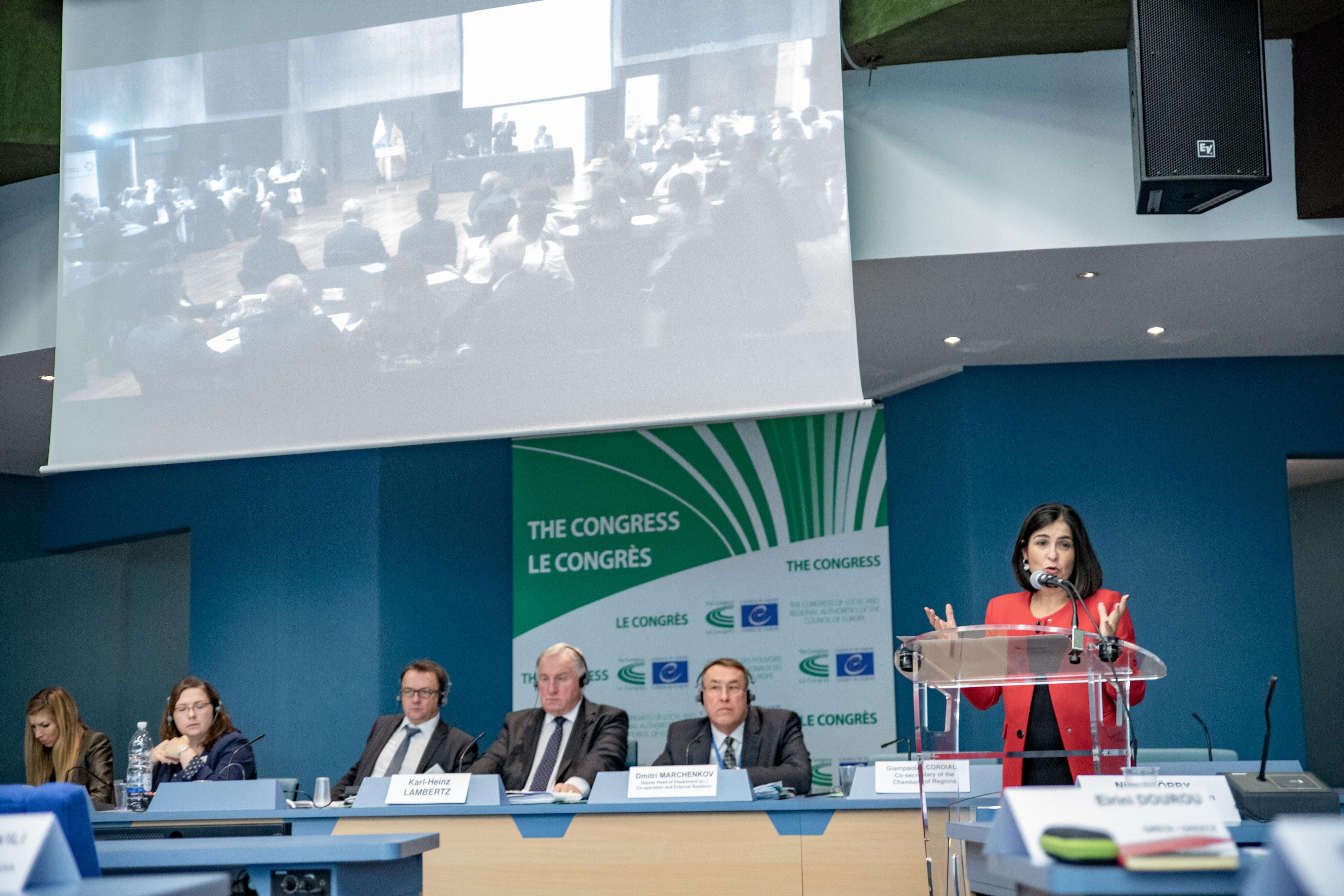 Carolina Darias en el Consejo de Europa